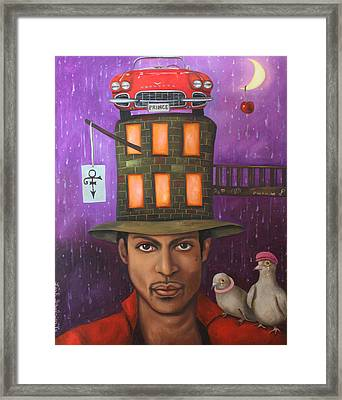 Prince Framed Print by Leah Saulnier The Painting Maniac