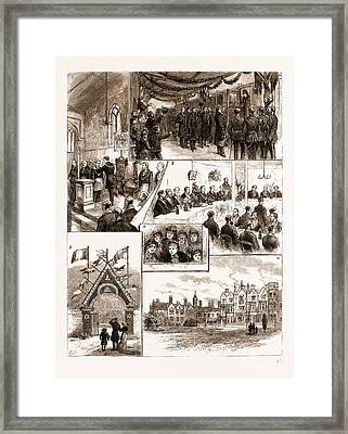Prince Leopolds Visit To Colchester, And The Installation Framed Print