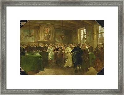 Prince Maurits Of Orange Receives A Delegation From Russia Framed Print by Litz Collection