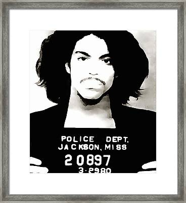 Prince Mug Shot Framed Print by Dan Sproul
