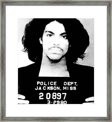 Prince Mugshot Framed Print