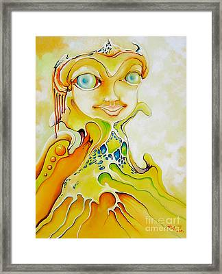 Framed Print featuring the painting Prince Of Deep Sea by Alexa Szlavics