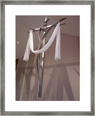 Prince Of Peace Cross Framed Print by Mac Worthington
