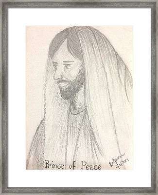 Prince Of Peace Framed Print by Kat Poon