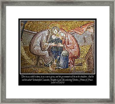 Prince Of Peace Framed Print