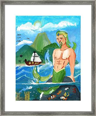 Prince Of The Sea Framed Print by Artists With Autism Inc