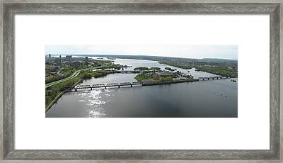 Prince Of Wales Railroad Bridge Panorama Framed Print by Rob Huntley
