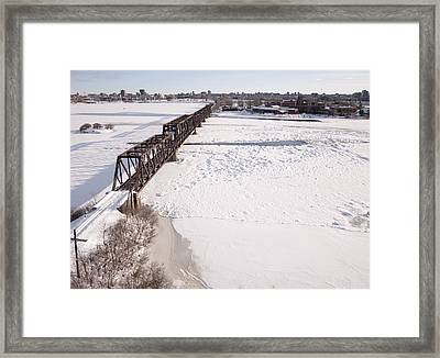Prince Of Wales Railway Bridge, Ottawa Framed Print