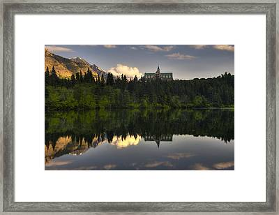 Prince Of Wales Reflection Framed Print by Mark Kiver