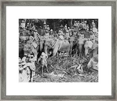 Prince Shoots A Tiger Framed Print