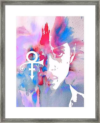 Prince Watercolor Framed Print by Dan Sproul