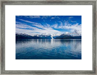 Framed Print featuring the photograph Prince William Sound View by  Phil Stone