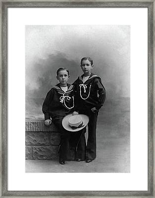 Princes Amedeo And Aimone Framed Print