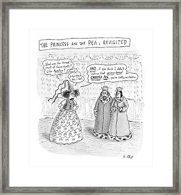 Princes Complains About Thread Count Of Sheets Framed Print