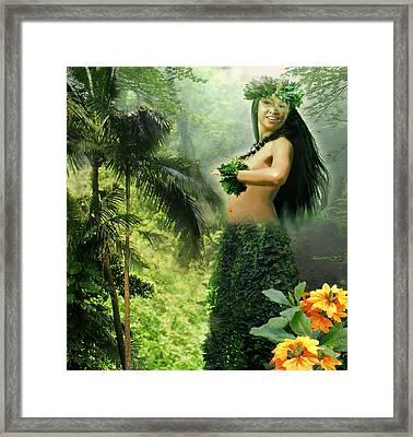 Princes Of The Hawaiian Forest Framed Print by Regina Femrite