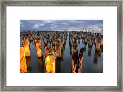Princes Pier Framed Print by Damian Morphou
