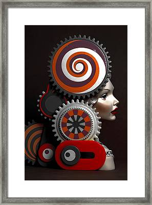 Princess And Contraption 2 Framed Print by Jeff  Gettis