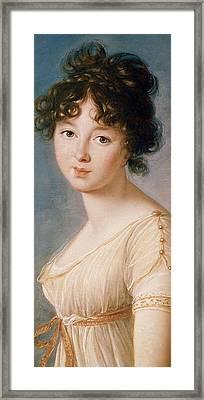 Princess Aniela Angelique Czartoryska Nee Radziwill Framed Print by Elisabeth Louise Vigee-Lebrun
