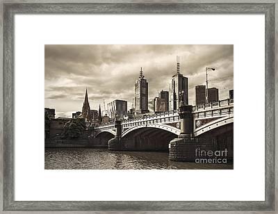 Princess Bridge Framed Print by Andrew Paranavitana