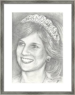 Princess Diana Framed Print
