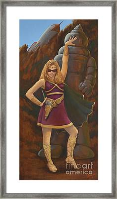 Princess Erika Ruler Of The Seven Lost Planets Framed Print by Charles Fennen