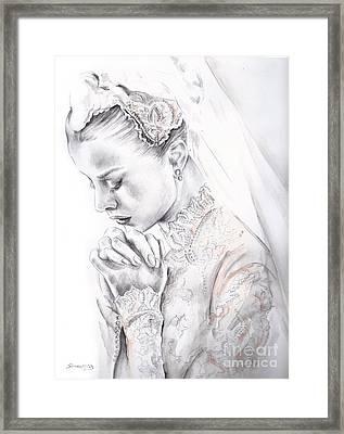 Princess Grace Framed Print by Elina Sheripova