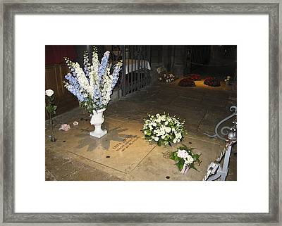 Framed Print featuring the photograph Princess Grace Tomb by Allen Sheffield