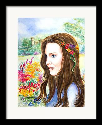 Kate Middleton Paintings Framed Prints