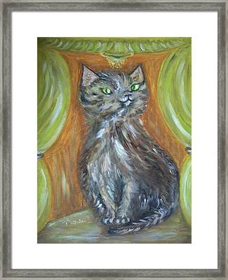 Framed Print featuring the painting Princess Kitty by Teresa White