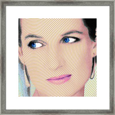 Princess Lady Diana Square Framed Print by Tony Rubino