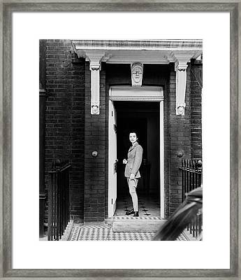 Princess Lee Radziwil Wearing A Riding Habit Framed Print