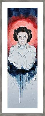 Princess Leia Framed Print by David Kraig