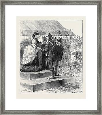 Princess Louise Presenting The Prizes At Wimbledon 1871 Framed Print