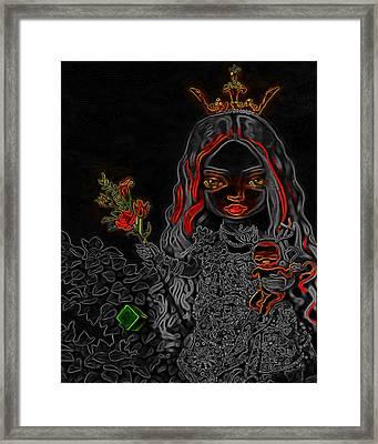 Princess Man Ray Homage Framed Print by Brian King