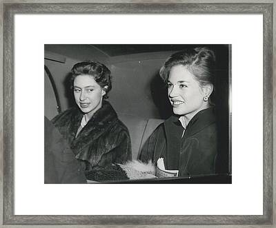 Princess Margaret At The Theatre Framed Print by Retro Images Archive