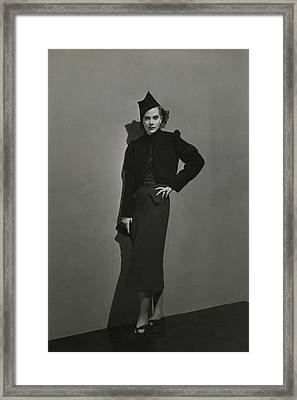 Princess Natalia Paley Wearing A Bolero Framed Print