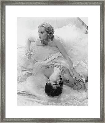 Princess Natalie Paley And Victor Kraft Framed Print by Cecil Beaton