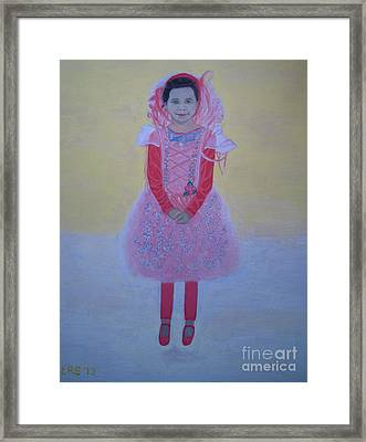 Princess Needs Pink New Hair Framed Print by Elizabeth Stedman