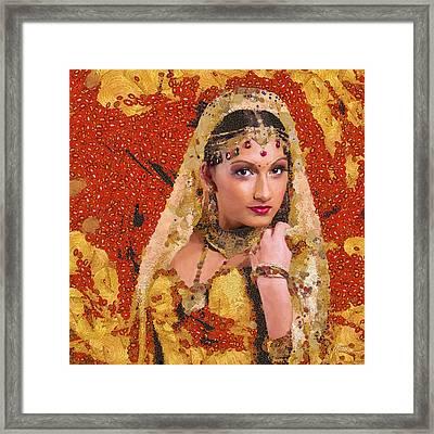 Princess Of Spice Framed Print by Marina Likholat