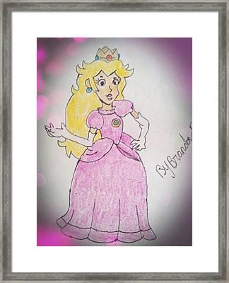 Princess Peach Or Toadstool Framed Print