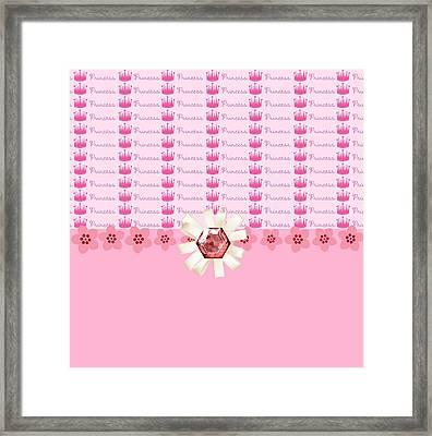 Princess Pink Crowns Framed Print by Debra  Miller