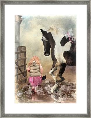 Princess Puddles And Sir Stamp Alot Framed Print by Trudi Simmonds