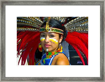 Princess Red Feather Close Up Framed Print