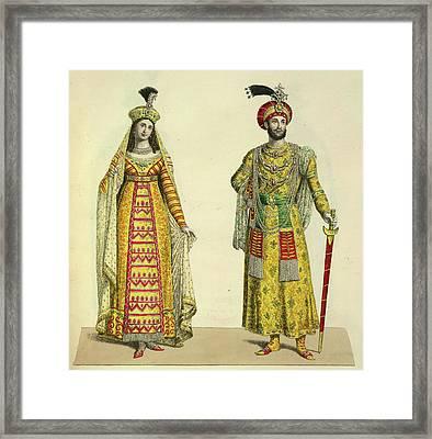 Princess Roschinara And Aurengzeb Framed Print