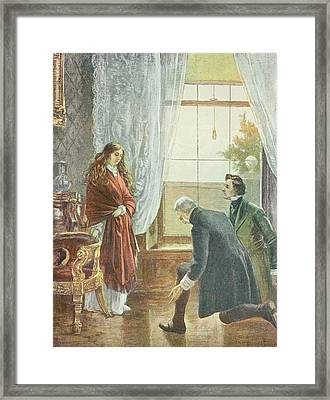 Princess Victoria Receiving The News Of Her Accession To The Throne, 21st June 1837 Litho Framed Print