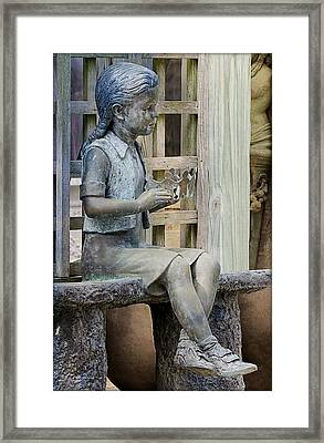 Framed Print featuring the photograph Princess Within The Garden by Ella Kaye Dickey