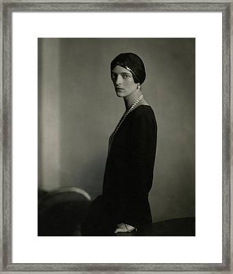 Princess Youssoupoff Wearing A Turban Framed Print by Edward Steichen