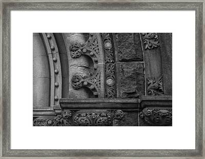 Framed Print featuring the photograph Princeton Architectural Detail by Glenn DiPaola
