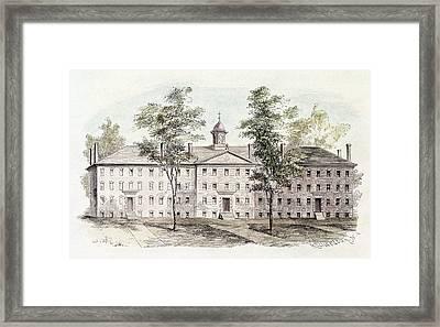 Princeton College, 1760 Framed Print by Granger