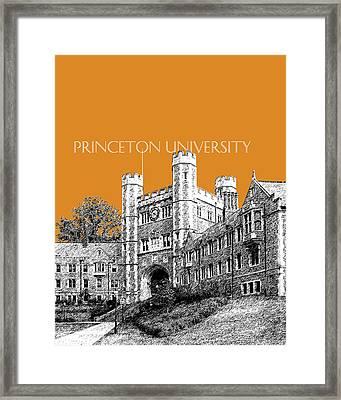 Princeton University - Dark Orange Framed Print